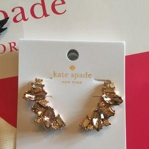 "NWT KATE SPADE ""Cluster Crawl"" Earrings-Peach"
